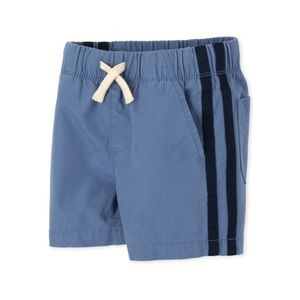 NWT PLACE Blue Side Stripe Pull On Jogger Shorts 3